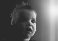 when angels sing (rockinmonique) Tags: logan portrait baby light shadow mono monochrome bw blackandwhite child monochromebokehthursday moniquewphotography canon canont6s tamron tamron45mm copyright 2019 monique w photography