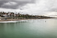 From the San Clemente Pier... (HTPh0t0s) Tags: adventure explore travel train tourist htphotos htph0t0s passengerrailroad nikond7000 metrolink