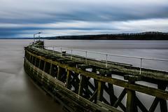 Sharpness Pier... (Jess Feldon) Tags: severnestuary severn sharpness pier sharpnesspier riversevern river jessfeldon sky clouds longexposure gloucestershire bigstopper