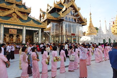 Ordination ceremony for novice Buddhist monks, Shwedagon Pagoda, Yangon (9) (Prof. Mortel) Tags: myanmar burma yangon rangoon buddhist pagoda shwedagon monks