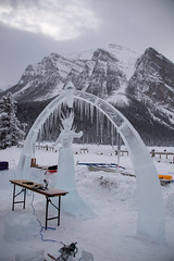 Ice Sculpture (Lee Rosenbaum) Tags: sculpture banffnationalpark landscape art icesculpture alberta mountains ice canada lake lakelouise snow mountain