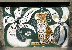 Street art in Paris 20th by Mosko & Associés + Paul Santoleri (Sokleine) Tags: écolematernelle playschool mosko santoleri streetart street rue artderue urbanart arturbain nature 75020 paris france leopard panther fleur flower graffiti grafitti dream