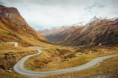 Rusty mountains (Andrey Baydak) Tags: silvretta hochalpenstrasse hochalpenstrase silvrettahochalpenstrasse silvrettahochalpenstrase silvrettaalps herbst autumn осень осінь mountains road pass serpentine tirol tyrol alps alpen rusty 2470 travel hiking wideangle