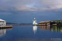 20190310-09-Ocean Investigator reflection (Roger T Wong) Tags: 2019 australia hobart oceaninvestigator rogertwong sel24105g sony24105 sonya7iii sonyalpha7iii sonyfe24105mmf4goss sonyilce7m3 tasmania evening rain reflection ship