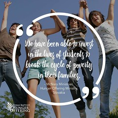 Texas Baptist Hunger Offering Quote 1