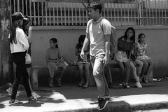 Concern (Beegee49) Tags: people street teens filipina man boy looking blackandwhite monochrome bw luminar sony a6000 bacolod city philippines asia