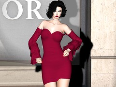Entrance no.386 (Curiosse) Tags: secondlife cocktail dress short wine elegant 2019 luxeparis newrelease april