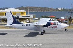 DSC_9168Pwm (T.O. Images) Tags: pjweb windward express britten norman islander sxm st maarten princess juliana airport