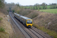 GWR Turbo 166216, Hall End (sgp_rail) Tags: gwr great western rail train trainspotting nikon d700 turbo dmu class 166 166216 wickwar hall end winter january 2019 tunnel railway