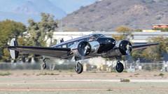 Beech C-45H Expeditor 52-10956 N9840Z (ChrisK48) Tags: kdvt aircraft beechc45h usaf5210956 remanufacturedc45f4447393cn7791 phoenixaz airplane expeditor cnaf886 dvt n9840z phoenixdeervalleyairport twinbeech 18 beechcraft