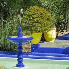 morocco 2014 (gerben more) Tags: morocco marokko fountain blue yellow garden marrakesh marrakech