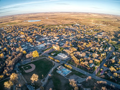 Wessington Springs is a Small Village in Farming Country of South Dakota (JacobBoomsma) Tags: south dakota fall autumn farming agricultural downtown skyline aerial urban drone plane central wessington springs