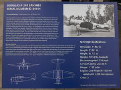 Douglas A-24B Banshee Sign (Serendigity) Tags: arizona pimaairspacemuseum tucson usa unitedstates aircraft aviation hangar indoors museum unitedstatesofamerica