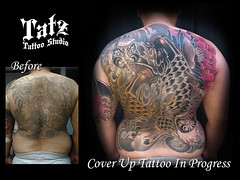 2019021701 (tatzstudio) Tags: tatz tattoo studio hk hongkong tattoos shop coverup touchup rework backpiece koi fish daruma