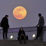 Super Moon over the Ars Electronica Center's Upper Deck thumbnail