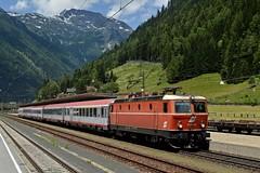 1144 040, IC 690 ( Wien Westbf > Villach ). Mallnitz- Obervellach (M. Kolenig) Tags: 1144 blutorange intercity tauernbahn berg