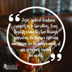 Texas Baptist Hunger Offering Quote 2
