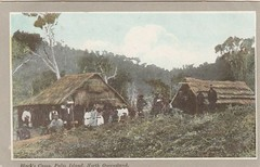 Black's Camp on Palm Island, North Qld - circa 1908 (Aussie~mobs) Tags: aborigines palmisland camp house home residence group family queensland vintage 1908 francobritishinternationalexhibition natives indigenous promotional postcard henrywilliammobsby