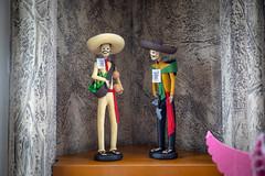 Catrinas (cookedphotos) Tags: mexico travel puertovallarta vacation streetphotography canon 5dmarkiv catrinas dolls sculpture huichol tierra