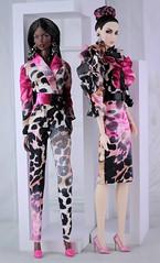 Fashion Royalty Vanessa Serenity and Agnes Demeanor (Regina&Galiana) Tags: fashionroyalty fashion fashiondoll doll integritytoys fr3 barbie outfit pink leopard agnesdemeanor vanessaserenity