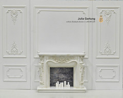 Fireplace and panel with classic molding 1:6 (JuliaGart) Tags: tishkov scale 16 julia gartung molding screen panel fireplace