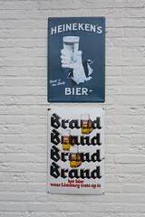 Competing beers (Arne Kuilman) Tags: nederland netherlands deurne trip d700 35mm 35mmf2 afd lens beers bieren sign heineken brand