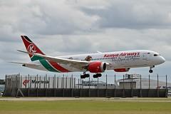 """""""Magical Kenya"""" Kenya Airways 5Y-KZG Boeing 787-8 Dreamliner cn/36044-289 Discover Kenya Sricker @ Buitenveldertbaan EHAM / AMS 14-08-2018 (Nabil Molinari Photography) Tags: magicalkenya kenya airways 5ykzg boeing 7878 dreamliner cn36044289 discover sricker buitenveldertbaan eham ams 14082018"""