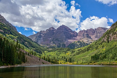 Maroon Bells (Davien Orion) Tags: explore colorado maroonbells aspen mountains lake water clouds green blue white landscape nature beautiful photoshopelements sonya77 sony flickrbest ngc