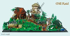 Mill Raid 1 (Brick Knight) Tags: lego moc castle crusaders wolfpack windmill