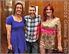 Gemma and Emily meets Dave Gorman ! (GemmaSmith_TVUK) Tags: tgirl celebrity