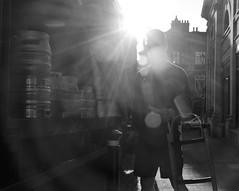 Beer Kegs (Bury Gardener) Tags: monochrome mono burystedmunds bw blackandwhite britain england eastanglia uk 2018 nikond7200 nikon suffolk streetphotography street streetcandids snaps strangers candid candids people peoplewatching folks traverse