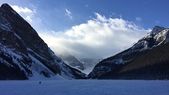 Lake Louise Alberta Canada (Mr. Happy Face - Peace :)) Tags: art2019 mountains scenery snowcaps rockies lakelouise 25yrs sky cloud sun peaks fairmount hotel chateau lake deepfreeze scenic weather flickrfriends banff cans2s canada activities hiking skiing crosscountry nwn tuesday