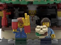 Burger Stop (Knackepeter) Tags: bricklink lego moc burger city rebrickable instrucion modular building ldd lxf