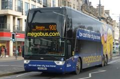Stagecoach 50246 working Citylink 900 on Princes Street, Edinburgh. (calderwoodroy) Tags: expresscoach astromega tdx27 vanhool sv62bbj 50246 service900 stagecoach scottishcitylink citylink megabus coach bus princesstreet edinburgh scotland