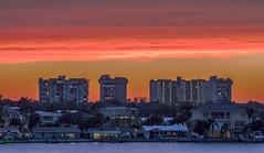 Sunset Boca Ciega Bay (vwalters10) Tags: sunset bay clouds sky buildings water florida