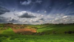 (Massimo Feliziani) Tags: hill collina marche italia italy landscape view clouds sky blue nuvola nuvole paesaggio marchigiano erba grass verde paesaggistico panoramic scenic collinare colline campagna primavera spring cielo azzurro