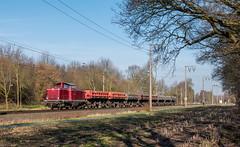 211 019 (Klaus Z.) Tags: eisenbahn kbs 395 leer br 211 019 elv güterzug ganzzug winter