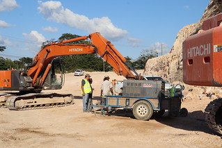 Hon. Rene Montero Tours George Price Highway Project