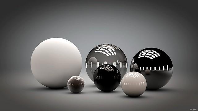 Обои шары, форма, обтекаемая, отражение картинки на рабочий стол, фото скачать бесплатно
