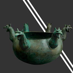 Ancient bronze cauldron griffin protomes, part of the Vassil Bojkov Collection (thracefoundation) Tags: ancient art vassilbojkovcollection mythology thrace ancienthistory artifact artefact history rhyton thracefoundation ancientgreece