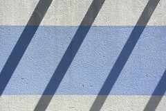 Stripes and shadows (Jan van der Wolf) Tags: map175116v shadow shadowplay shadows schaduwen schaduwspel stripes strepen wall muur minimalism minimalistic minimalisme simple simpel composition compositie geometric geometry geometrisch geometrie gevel facade lines lijnen lijnenspel interplayoflines playoflines blue white wit blauw