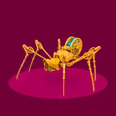 Mech Monday #11: Clockwork Crawler (roΙΙi) Tags: mechmonday mech steampunk spider clockword afol moc lego