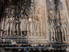 Sunflare & Apsaras | Angkor wat,Cambodia | 2019. (Vijayaraj PS) Tags: fujix30 sunflare fujiindia fujifilm apsaras wallstructures history art architecture culture wallart sculptures wallsculptures cambodianhistory