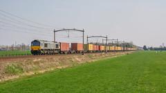Hulten Class66 DE 6306 met containertrein naar België (Rob Dammers) Tags: rijen noordbrabant nederland nl