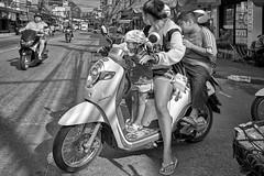 Bikers (FimRay) Tags: blackandwhite bw monotone street streetphotography thailand traditionalstreet thai people motorcycle motorbike leica m240 digital zeiss biogon 25mm f28 asian asia