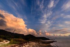 中道湾夕景 ー Evening scenery of the Chuudo Bay (kurumaebi) Tags: yamaguchi 秋穂 山口市 nikon d750 nature landscape 雲 cloud autumn 秋 sky 空 sunset 夕焼け sea 海