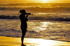 Golden Photographer (Sterling67) Tags: surf sunrise outside gold golden the cliff beach water silhouette 7d 100400