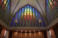 Ceiling of Interfaith Chapel (dr_marvel) Tags: ceiling worshiping worship church religious praying prayers rochester ny newyork interfaith religion faith chapel uofr universityofrochester stainedglass rivercampus windows