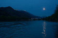Moonlight (LB1415) Tags: moon river sava luna spring reflection nature pentax k200d rawtherapee blue water city landscape trees mountain valley lb1415 allrightsreserved twilight reservoir lake moonlight interesting 満月