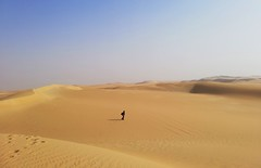 Alone (Abdullah Taher) Tags: white winter egypt egyptian era sea yellow people desert travel sky day up sun image life opening photo photograph phone africa shot great sand high landscape look valley bright nature ngc mobile sahara siwa alone